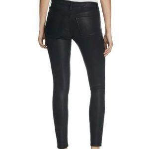 J Brand super skinny coated Jean black 24